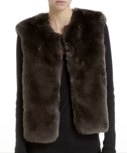 Barneys Co-Op Faux Fur Vest $255.00 www.barneys.com