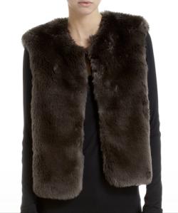 Barneys Co-Op Faux Fur Vest $255.00 www.barneys.com