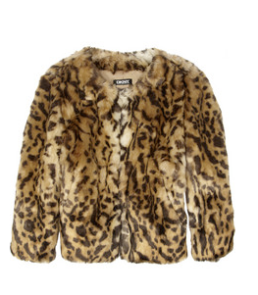 DKNY Animal-Print faux Fur Jacket $295.00 on sale for $206.50