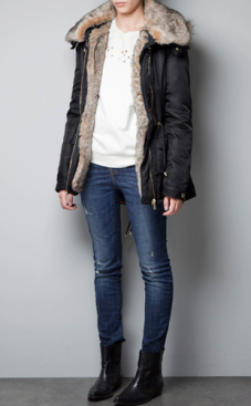 Fur-Lined Parka $129.00