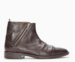 Golden Goose Dark Brown Stage Boots $630.00 on sale for $441.00