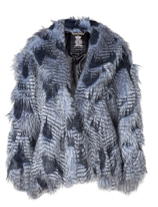 Juicy Couture Lapis Faux Fur Cape $495.00