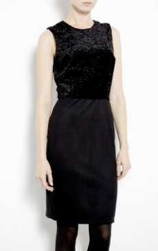 L'Agence Faux Lambskin Dress $522.00 on sale for$365.00