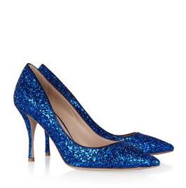 Miu Miu Glitter Finished Leather  Pumps $590.00 on sale for $413.00 www.netaporter.com