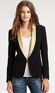 Rag & Bone Brocade Tuxedo jacket $595.00