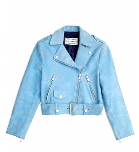Acne Mape Petite Cropped Suede Biker Jacket $1250.00