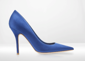 Christian Dior Bright Blue Sued Pump $575.00