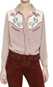 Embroidered Crepe Shirt $965.00 on sale for $482.00 www.luisaviaroma.com