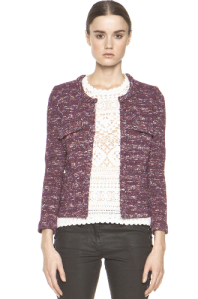 Etoile Ariana Heather Stripe jacket $498.00 www.forwardforward.com