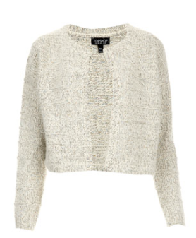 Knitted Shimmer Cropped Sweater $90.00