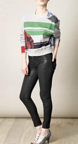 Preen Poppy Cropped Sweatshirt $534.00