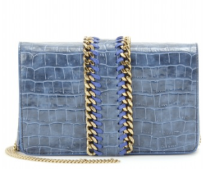 Stella McCartney Croco Embossed Faux Leather Clutch $797.00