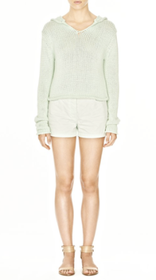 T By Alexander Wang Cropped Chunky Cotton Hoodie $295.00