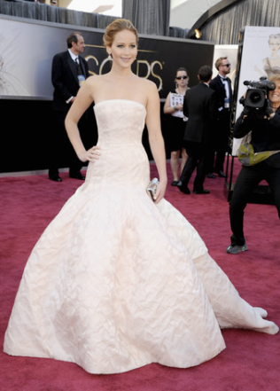 Jennifer Lawrence christian Dior Couture