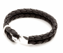 Miansai Beacon Leather Braided Bracelet $105.00