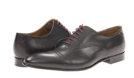 Paul Smith Polished Leather Hawk Toe Cap Shoes $395  www.zappos.com