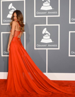 Rihanna In Azzaedine Alaia