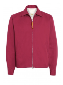 Universal Works Red Brisbane Twill Windcheater Bomber $204.00