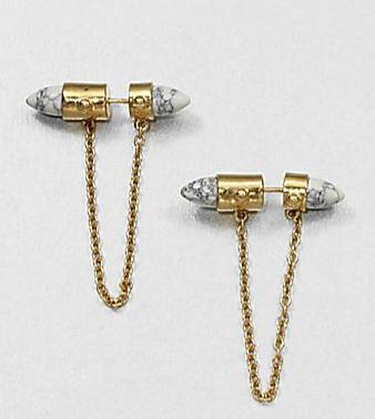 ALC Howlite Double Sided Earings $160.00 www.saksfifthavenue.com