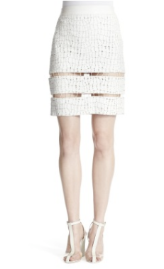 Alexander Wang Leather Glow-In-The-Dark Eyelit Skirt $2000.00 www.shopbazaar.com