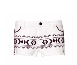 Aztec Embroidered Shorts $69.90