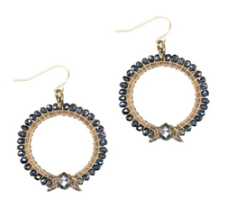 Iridescent Spinnel With Pyrite Center Earrings $ 120.00 on sale for $102.00 www.cynthiadesser.com