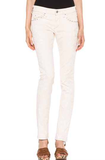 Isabel Marant Galix Embroidered Jean $540.00 Barneys 310