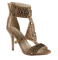 Kathryn Cognac Ankle & T-Strap Heel $120.00