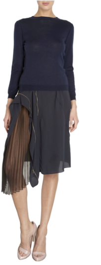 Nina Ricci Side Sheer Panel Skirt $1990.00