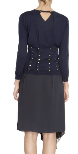 Nina Ricci Studded Pleat Back Sweater $890.00