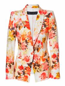 Pique Floral Blazer $99.90