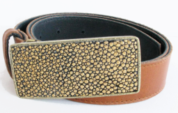 The Perfect Jeams Buckle Cognac Strap w:Antique Gold Stingray Buckle $265.00 om sale for