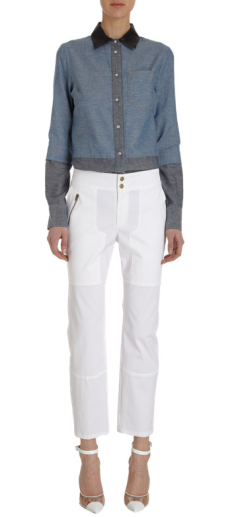 10 Crosby Derek Lam Lace-Up Detai Pant $375.00 on sale for $229.00