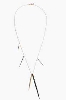 Alexis bittar Crystal Encrusted Long Spear Necklace $155.00