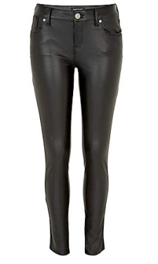 Black leather Look Olive Skinny Jeans $90.00 0n sale for $50.00