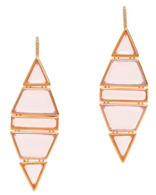 Jennifer Meyer Ruby Dangle Earrings $138.00