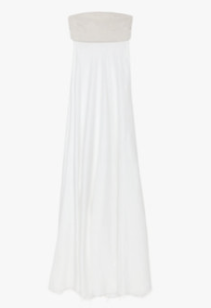 L'Agence Lace-Up Back Strapless Maxi dress $475.00