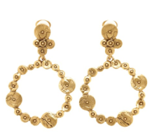 Oscar de la Renta Circular Earring $175.00