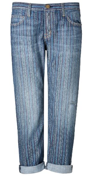 Current:Elliot Boyfriend Jeans In Multi Stripe $320.00
