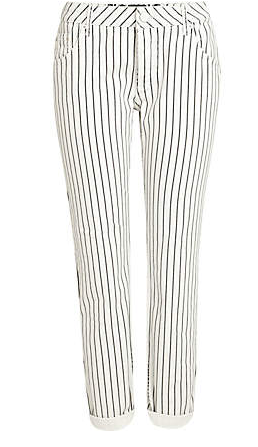White Stripe Lexie Slim Boyfriend Jeans $80.00