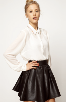 ASOS White Blouse With embellished Collar $61.00 on sale for $42.00