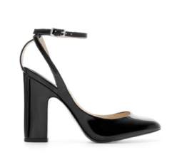 Zara Wide Heel Patent Leather Court Shoe $80.00