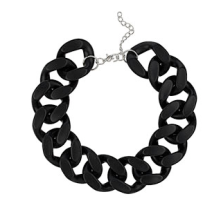 Black Chunky Chain Necklace $40.00