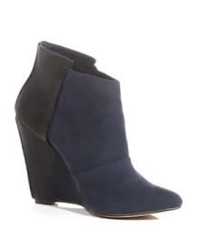 Dorthy Perkins navy:Black Wedge Ankle Boots $69.00