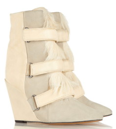 Isabel Marant Pierce Suede:Leather Wedge Boots $1560.00 Net-A-Porter