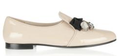 Miu Miu Embellished Patent-Leather Loafer $650.00 netaporter.com