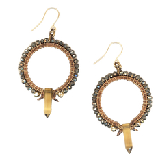 Cyntia Desser Citrine Point Rock Opera Earrings $133.00