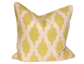 Lime & Cream Moroccan Cutout Pillow From LiveStyle Pillow Shop $150.00 on sale for $90.00