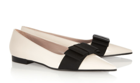 Miu Miu Bow-Embellished patent-Leather Loafers $595.00