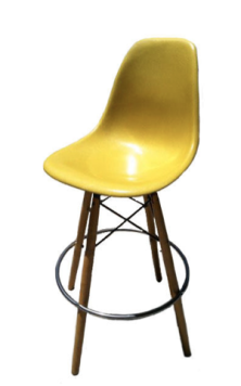 Pair Of Yellow Vintage Eams Barstools From Zulu's Moving $350.00